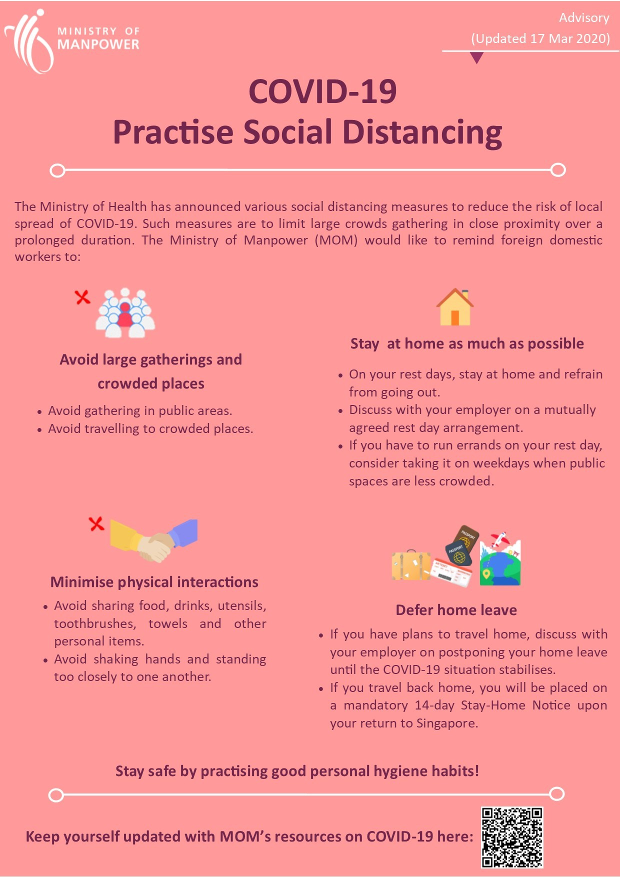 Practise social distancing