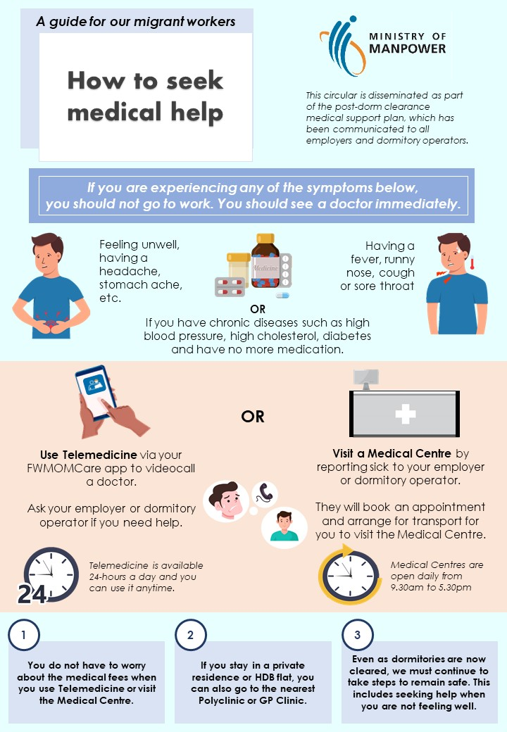 Thumbnail - A guide for our migrant workers - How to seek medical help after dorms are cleared