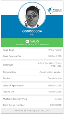 picture relating to Printable Workers Permit known as SGWorkP